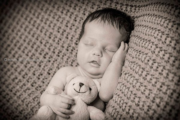 Ella was relaxed comfortable in the head on hands shot which is a classic image in newborn photography and we love achieving this shot for our clients
